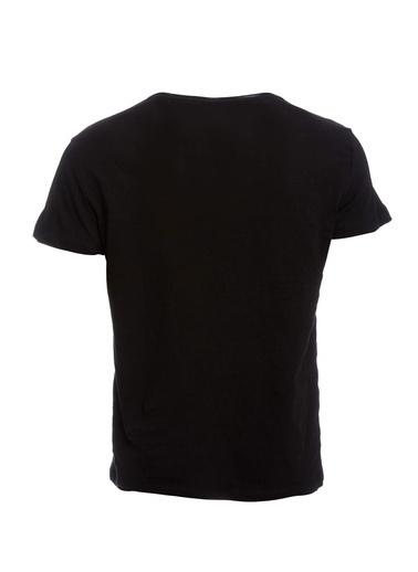 DeFacto Bisiklet Yaka Basic Slim Fit T-shirt Siyah